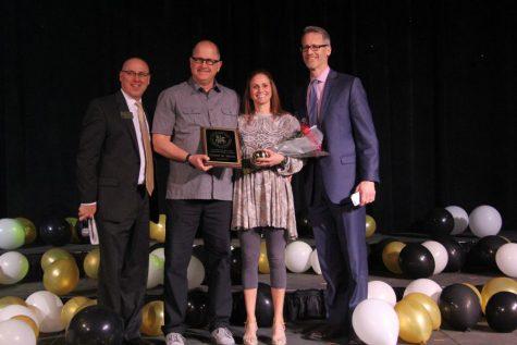 Working towards winning: Meyer congratulated for Teacher of the Year award