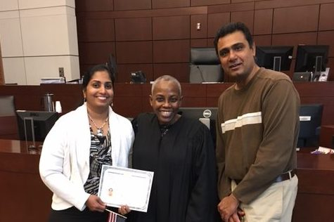 Finally, my mother, Anuradha Sundarrajan gets American citizenship on February 2017.