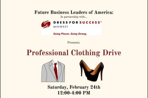 FBLA and Dress for Success Midwest coordinate professional clothing drive