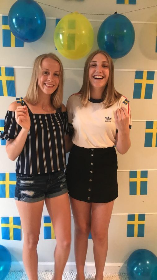 Senior Anna Karner hosted foreign exchange student Julia Eklund in the school year of 2017-2018. Karner and Eklund had a very positive experience and call each other