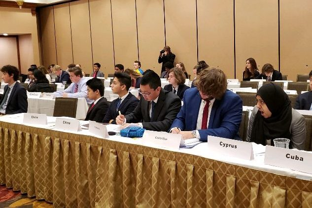 Lafayette representatives of Model UN participate in a conference in Sept. 2017
