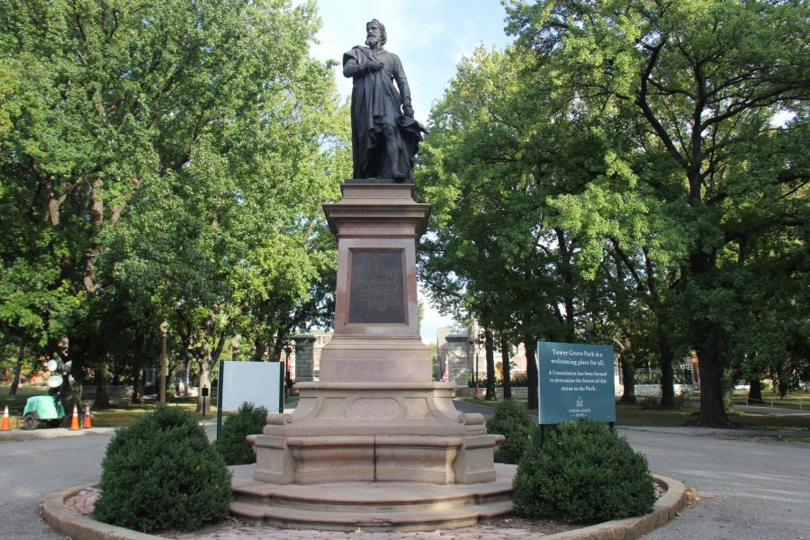 Located+at+the+east+entrance%2C+Tower+Grove+Park+dedicates+a+statue+of+Christopher+Columbus+in+1886.