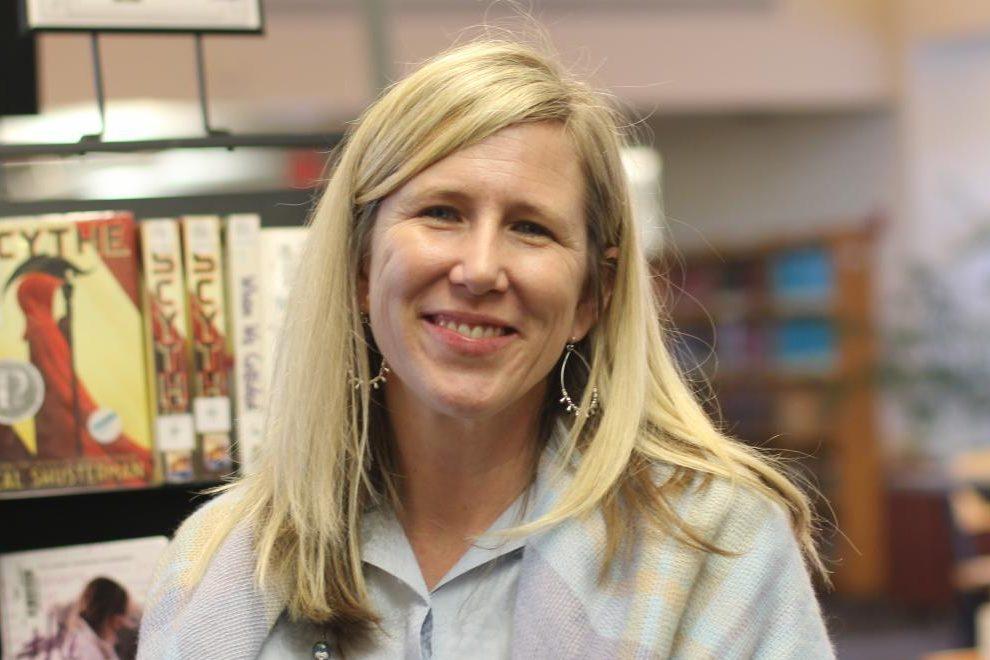 Librarian Nichole Ballard-Long won the 2018-2019 Teacher of the Year award.