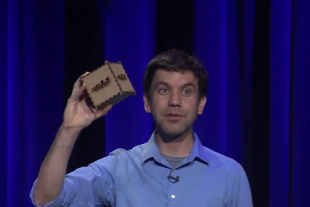Klesh+speaks+at+a+conference+about+CubeSats+that+was+streamed+live+on+YouTube+on+April+21%2C+2016.+CubeSats+are+satellites+that+weigh+less+than+three+pounds+that+are+used+by+NASA+scientists+for+interplanetary+research.