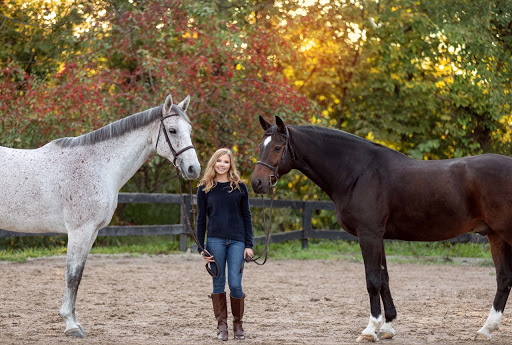 Ashley+Shaw+and+her+horses+Adico+%28left%29+and+Legs+%28right%29.+%22Taking+senior+photos+with+the+horses+was+a+bit+of+a+struggle+given+Legs%E2%80%99s+personal+space+bubble%2C+but+gratefully+both+horses+behaved+quite+well.+I+give+many+thanks+to+my+brilliant+photographer%2C+Blanca+Parciak%2C+for+being+so+patient+with+the+horses%2C+as+well+as+having+many+tricks+up+her+sleeve+to+keep+the+horses%E2%80%99+attention+%28there%E2%80%99s+nothing+a+horse+won%E2%80%99t+do+for+a+treat%29.%22+Shaw+said.