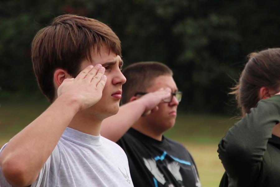 AFJROTC students establish discipline through Drill Team
