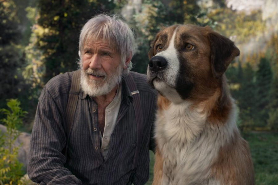Harrison+Ford+stars+as+John+Thornton+in+%22The+Call+of+the+Wild.%22+The+dog%2C+Buck%2C+was+created+entirely+through+CGI.+Press+photo+courtesy+of+20th+Century+Studios.