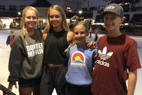 Pictured, left to right, is Megan, Molly, Jenna and Adian Nemnich in Beaver Creek Colorado.