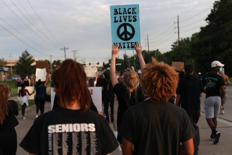 Several Lafayette students joined a peaceful protest in support of the Black Lives Matter movement in O