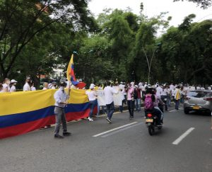 Peaceful protests that took place in one of Colombia's biggest cities, Cali. Cali has been the city with the most protests so far, along with other big cities like Bogota and Medellin.
