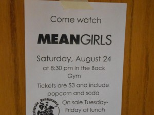 """Renaissance to sponsor showing of """"Mean Girls"""" on Saturday, August 24"""