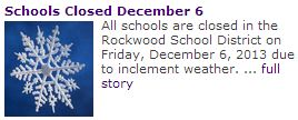 Rockwood cancels school due to inclement weather