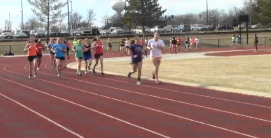 Girls track, a non-tryout sports, begin running workouts.