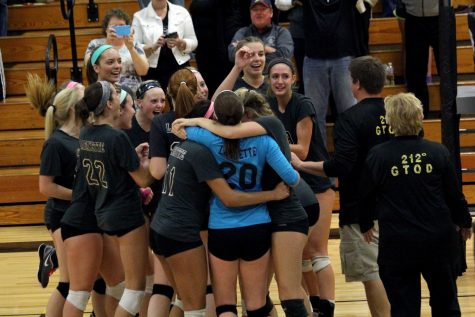 Six in a row; girls volleyball brings home the hardware