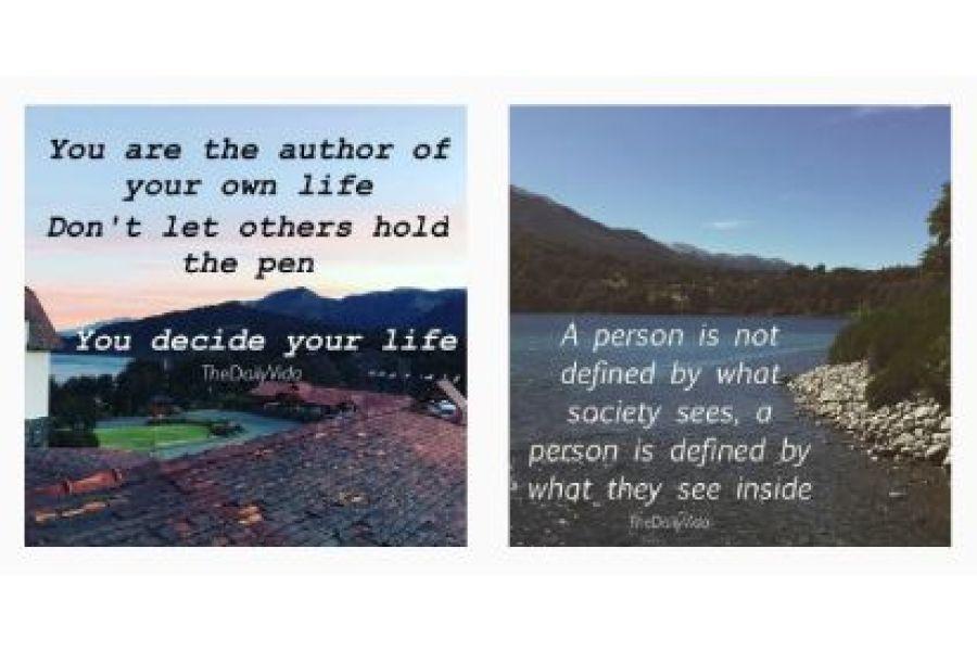 Examples of posts found on Olivari's Instagram account @thedailyvida