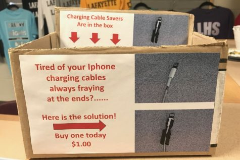 Engineering class sells charger savers in school store