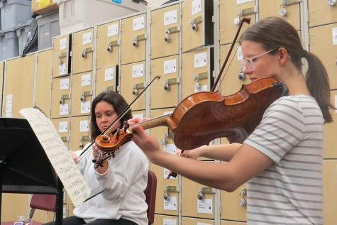 Student musicians prepare for Solo and Ensemble Festival