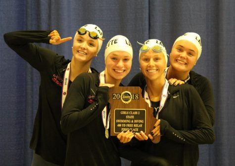 Petrosino leads girls swim to second place finish at State
