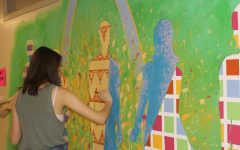 AP Studio paints mural in Science Hall