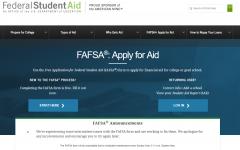 FAFSA application open beginning Oct. 1