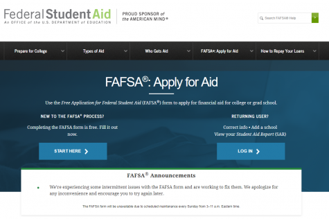 FAFSA application open beginning Oct. 1