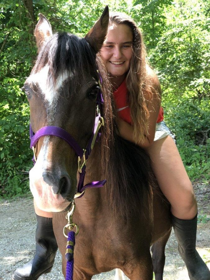 Nisbet bought her horse Xena from a kill pen in Texas, now the two are training and spend nearly every day together.