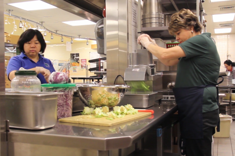 The daily routine of the cafeteria staff