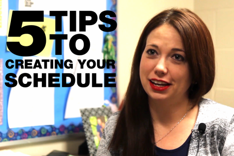 Five tips to creating your schedule