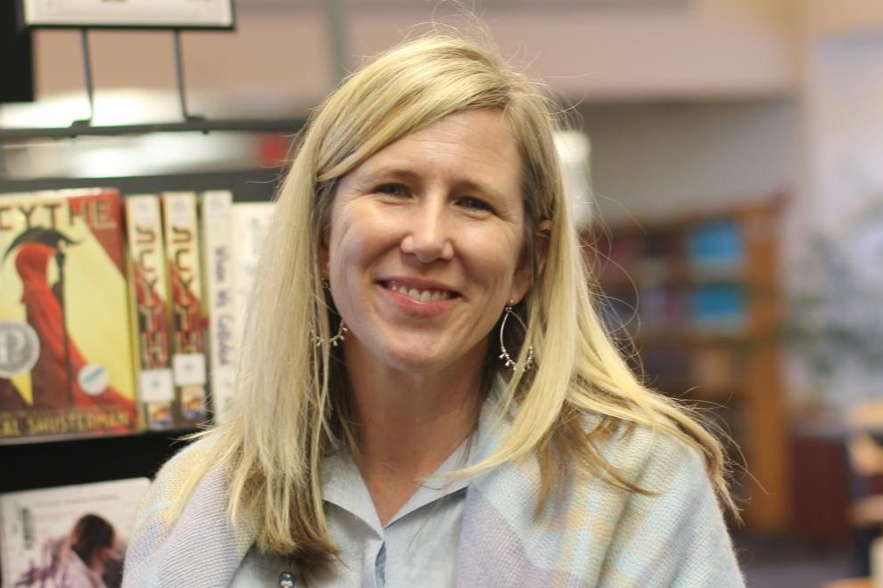 Librarian Nichole Ballard-Long won the 2018-2019 Teacher of the Year award.