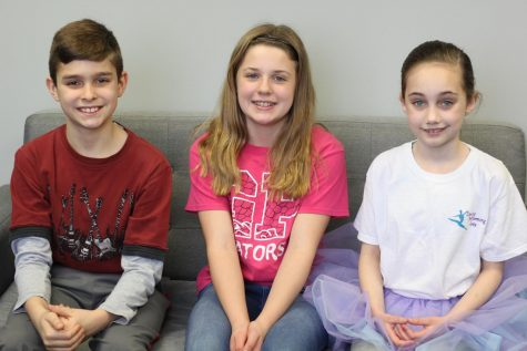 Ellen, fifth grade, Jason White, fourth grade and Luci, third grade, are all Green Pines students who will attend Lafayette in the future.