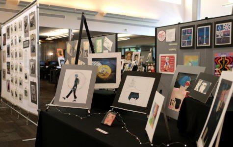 AP Art Studio displays work in show in Library
