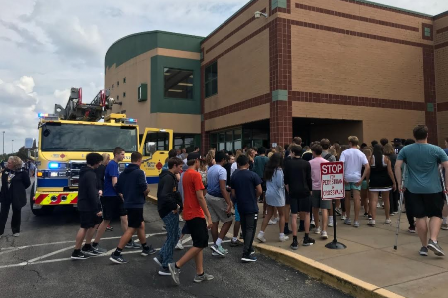 During 6th Hour on Sept. 20 the fire alarms unexpectedly went off at Lafayette.