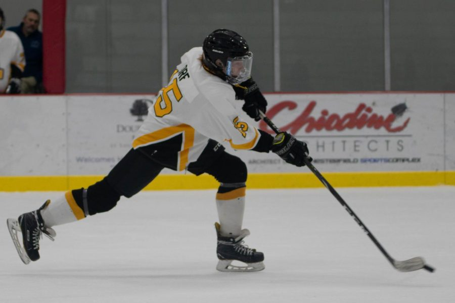 Nathaniel Orf, sophomore, scores a goal against Fort Zumwalt East. The Lancers had a high scoring game, winning with a score of 7-4. The #2 seeded Lancers play #1 seed Marquette Sept. 30 at 9 p.m.