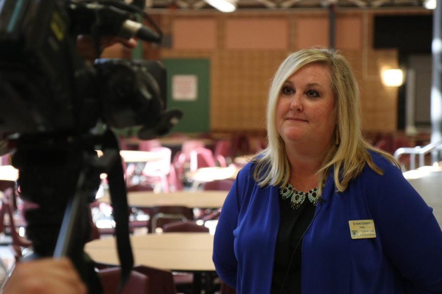 Principal+Karen+Calcaterra+is+interviewed+by+KMOV%27s+Features+Reporter%2C+Steve+Harris.+All+of+the+interviews+took+place+during+4th+Hour+on+Oct.+8.