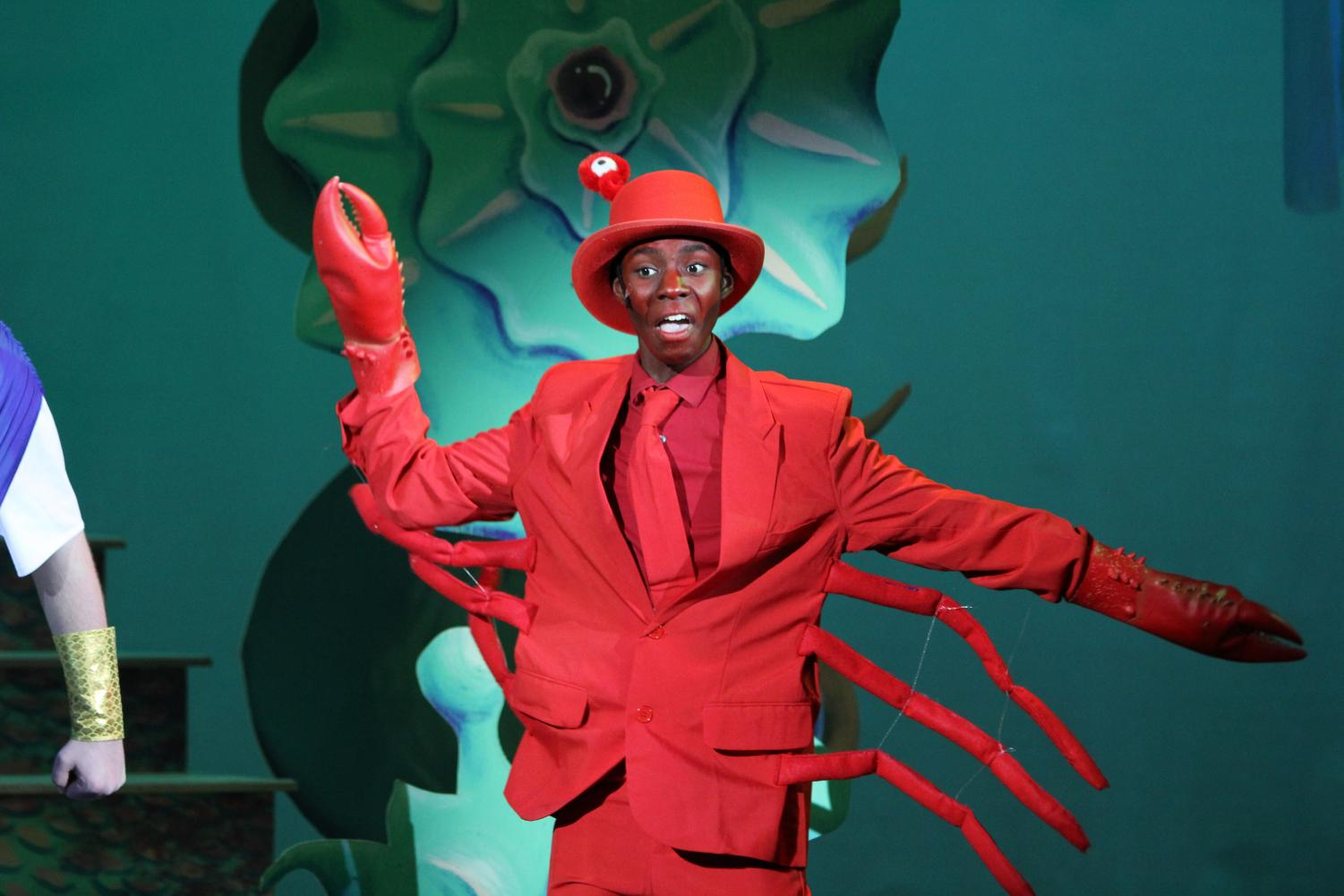 Junior Nathaniel Mahone played Sebastian in The Lafayette Theater Company's production of The Little Mermaid his freshman year.