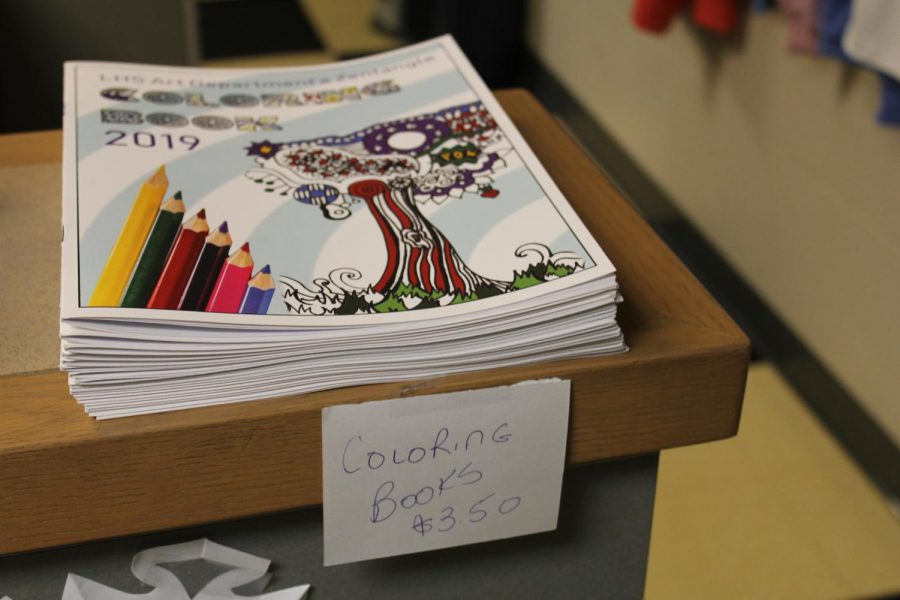 The 2019 Art Department coloring book is for sale in the school store for $3.50.