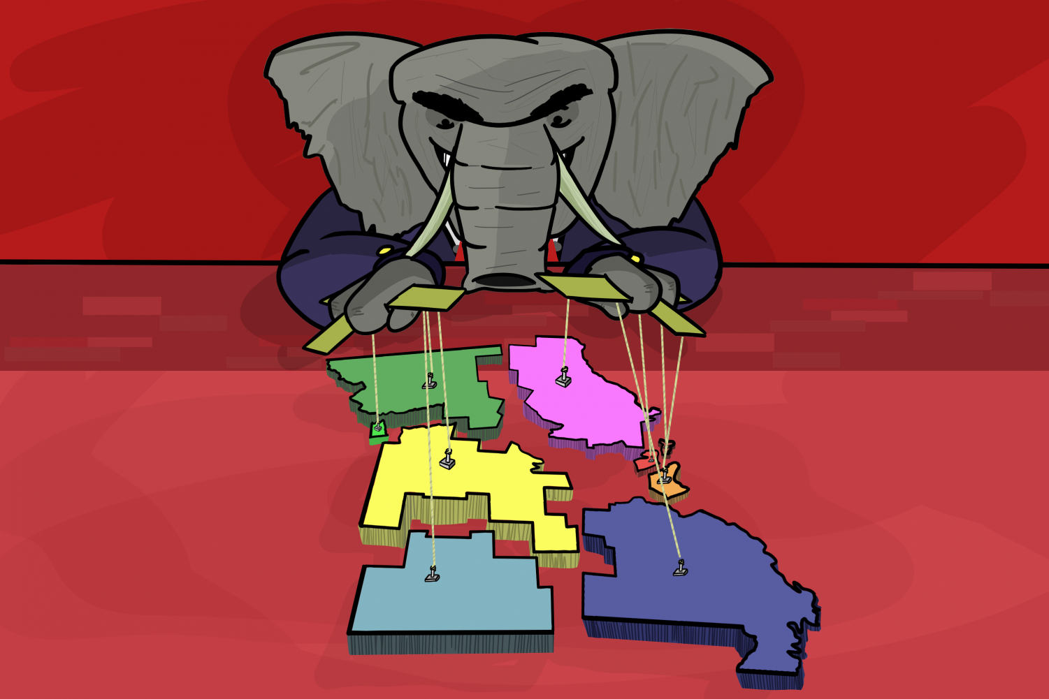 The Republican Party has thoroughly gerrymandered several states, including Missouri, to gain an advantage in elections.