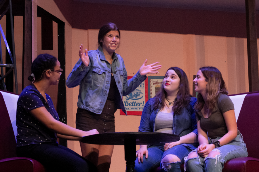 Sophomore Gracie Maurer, along with co-stars Surayya Cazembe, Caroline Foster and Rachel Clarke, perform the song
