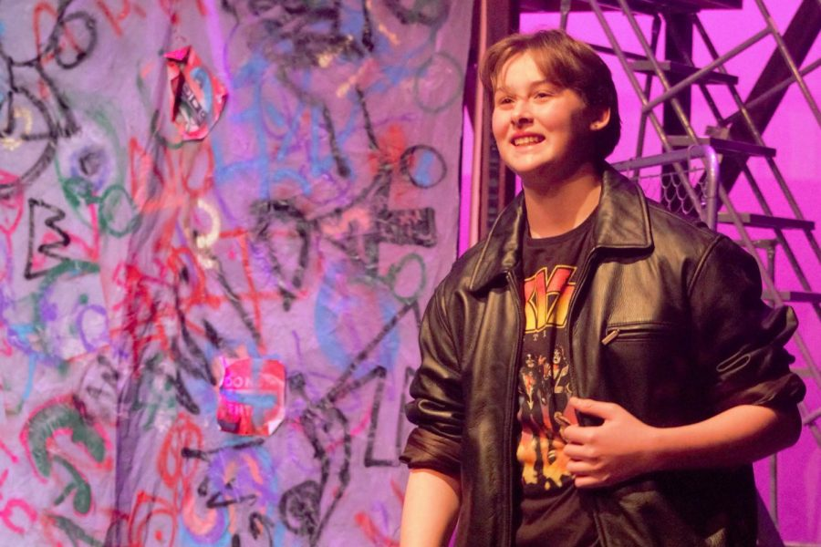 Freshman Devin Greene portrays Chuck Cranston, Ariel's boyfriend at the beginning of the show. Greene was one of only a few freshman cast and this is his first performance with LTC.