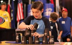 Sport stacking is a world-wide sport for all ages. Junior Noah Davies stacks for Team USA after only six years in the sport.