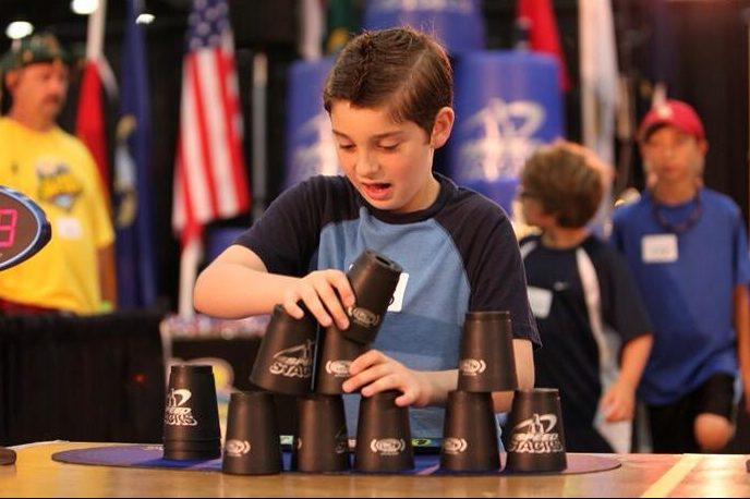 Davies competes on Team USA in sport stacking