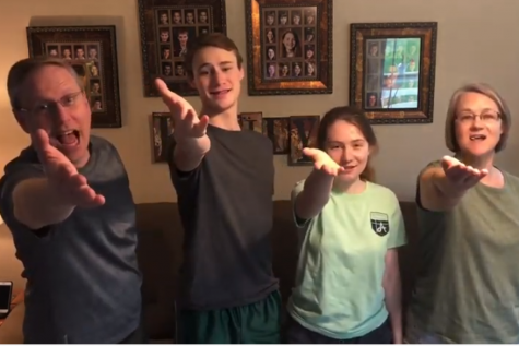 """Sophomore Peter Schaper and his family perform """"Shelter in your places"""", a parody of """"Mr. Roboto"""" by Styx for their """"Super Schaper Sing-Off"""". This event was hosted virtually by the Schaper family but included participants from many families at Lafayette."""