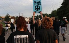 Several Lafayette students joined a peaceful protest in support of the Black Lives Matter movement in O'Fallon on Monday, June 1.