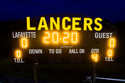 The Class of 2020 gets some special recognition on the Stadium scoreboard.