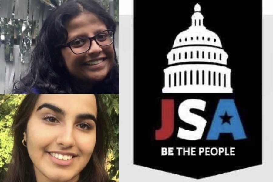 Seniors Pranavi Pitchyaiah and Neeza Singh founded the Lafayette Branch of the Midwest Cabinet of JSA. The girls hope the club will give students a way to voice political opinions in a safe environment.