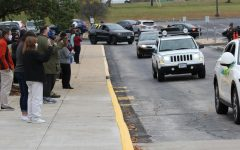 Students surprised staff members with a special parade and notes of appreciation on the morning of Oct. 19. Staff members headed outside for what they thought was a routine fire drill and were greeted by cars filled with honking and waving students.
