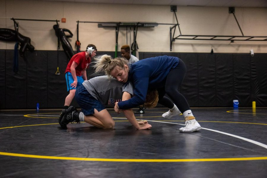 Updated Missouri State High School Activities Association rules state that wrestlers, like two time State Champion junior Faith Cole, are no longer permitted to wrestle the boys in duel meets. Though there is this setback, Head Coach Bernice Blanco still expects Cole to go far in her wrestling career this year.