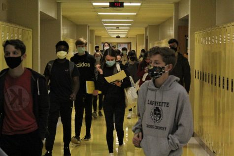 On Nov. 11, the Class of 2024 navigated the hallways of Lafayette for the first time during Lafayette