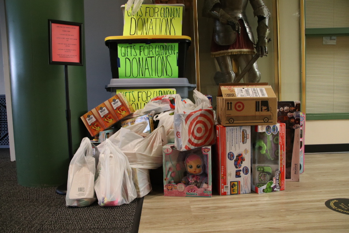 In addition to their own projects, members in both Key Club and National Honor Society were able to earn service points by donating to the Class of 2022's Toy Drive for Cardinal Glennon Hospital.