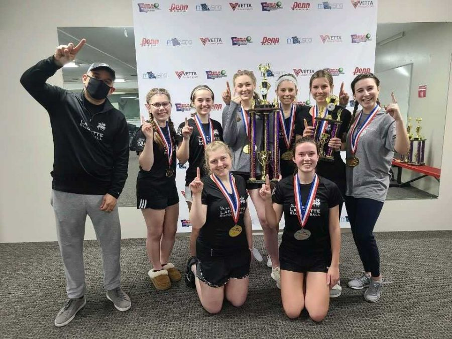Girls racquetball celebrates first State title